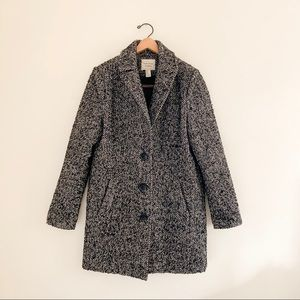Forever 21 Gray Thick Tweed Pea Coat - Size M